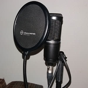 A microphone.